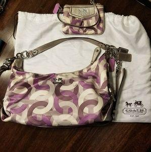 Coach purse and wristlet
